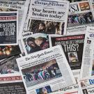 newspaper clippings of mass shootings in america