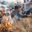 UC Davis students, academics and members of the local Native American community take part in a collaborative cultural burn at the Tending and Gathering Garden at the Cache Creek Nature Preserve in Woodland.